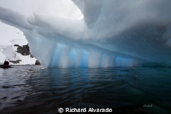 Natural light through an iceberg.  Taken with a Canon EOS... by Richard Alvarado 
